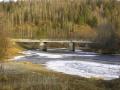 Мост через Вагран у посёлка Бокситы