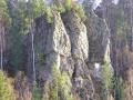 Скала Три брата у реки Вагран