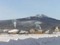 Вид на гору Кумба с посёлка Баяновка