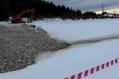 Провал бетонного русла реки Вагран вблизи стадиона