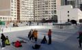 На коньках из дома во двор