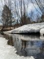 Апрель, последний снег, река Коноваловка