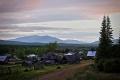 Вид на Денежкин Камень из села Всеволодо-Благодатское