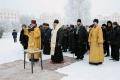Молебен на месте строительства Часовни Георгиевского парка